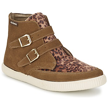 Schuhe Damen Sneaker High Victoria 16706 Braun