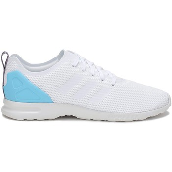 Schuhe Damen Sneaker Low adidas Originals ZX Flux Adv Smooth W Weiß