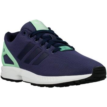 Schuhe Damen Sneaker Low adidas Originals ZX Flux W Light Flash Green Dunkelblau-Seladongrün