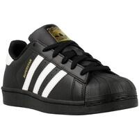 Schuhe Jungen Sneaker Low adidas Originals Superstar Foundation J Weiß-Schwarz