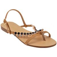 Schuhe Damen Sandalen / Sandaletten F. Milano H1279Stonessandale Beige