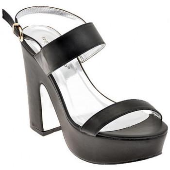 Schuhe Damen Sandalen / Sandaletten F. Milano H270PT.120sandale Schwarz