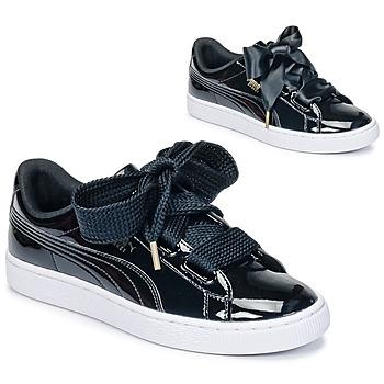 Schuhe Damen Sneaker Low Puma BASKET HEART PATENT WN'S Schwarz