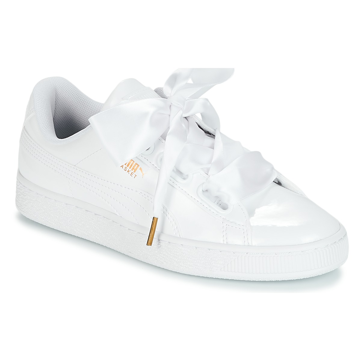 Puma BASKET HEART PATENT WN'S Weiss - Kostenloser Versand bei Spartoode ! - Schuhe Sneaker Low Damen 79,19 €