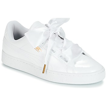 Schuhe Damen Sneaker Low Puma BASKET HEART PATENT WN'S Weiss