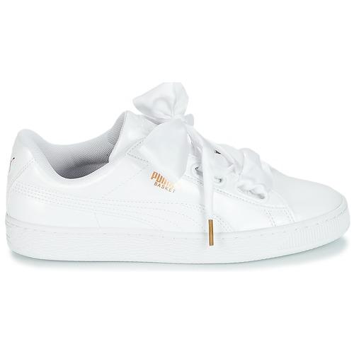Puma BASKET Sneaker HEART PATENT WN'S Weiss  Schuhe Sneaker BASKET Low Damen 79,16 ec0682