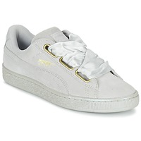 Schuhe Damen Sneaker Low Puma BASKET HEART SATIN WN'S Grau