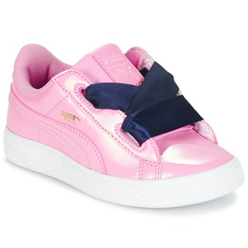 Schuhe Mädchen Sneaker Low Puma BASKET HEART PATENT PS Rose / Marine