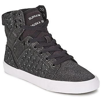 Schuhe Damen Sneaker High Supra SKYTOP Schwarz / Weiss
