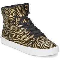 Schuhe Damen Sneaker High Supra SKYTOP Goldfarben / Schwarz