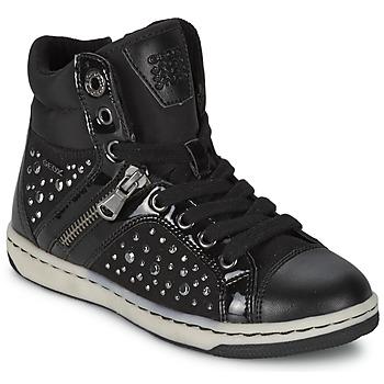 Schuhe Mädchen Sneaker High Geox CREAMY C Schwarz