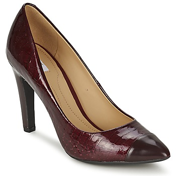 Schuhe Damen Pumps Geox CAROLINE Bordeaux