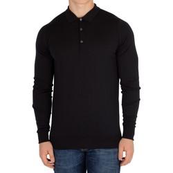 Kleidung Herren Langärmelige Polohemden John Smedley Cotswold Langarm-Polo-Shirt schwarz