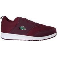 Schuhe Jungen Sneaker Low Lacoste 32SPJ0114 LIGHT PP3 DK PNK-PURP Rosa
