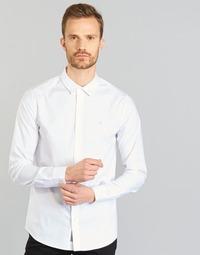 Kleidung Herren Langärmelige Hemden Calvin Klein Jeans WILBERT Weiss