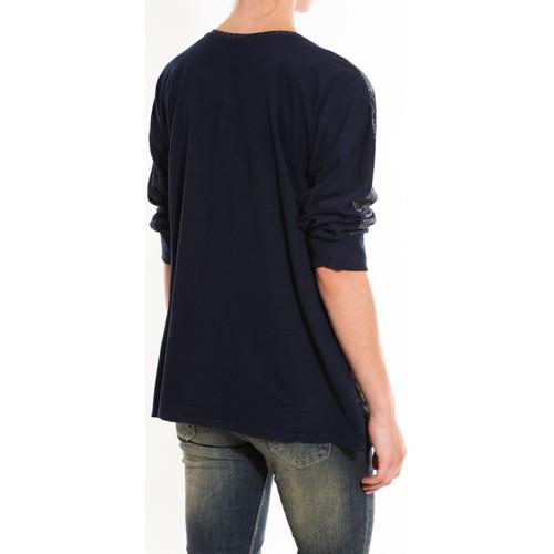 Dress Code Pull Mooiki Bleu Blau - Kleidung Pullover Damen 2110 eOwDC