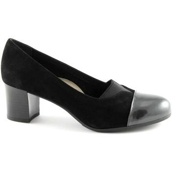 Schuhe Damen Pumps Grunland GRÜNLAND CIAC SC2321 schwarze Schuhe Frau dcollet Stretch-Mäuse Nero