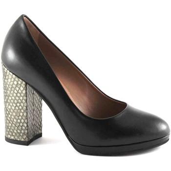 Schuhe Damen Pumps Les Venues LES VERANSTALTUNGSORTE 6800 schwarze Schuhe hochhackigen Leder d Nero