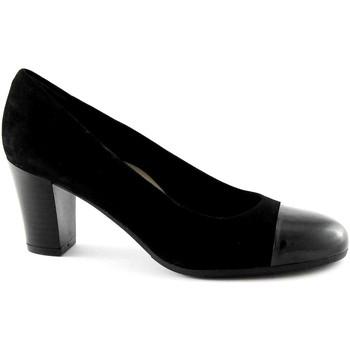 Schuhe Damen Pumps Grunland GRÜNLAND NIRA SC2070 schwarze Frau dcollet suede shoes Nero
