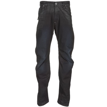 Kleidung Herren Straight Leg Jeans G-Star Raw NEW ARC ZIP 3D Schwarz