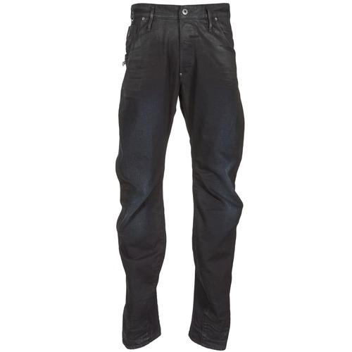 Kleidung Herren Straight Leg Jeans G-Star Raw NEW ARC ZIP 3D Schwarz