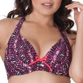 Kleidung Damen Bikini Ober- und Unterteile Curvy Kate CS2921 CHERRY BERRY Violett