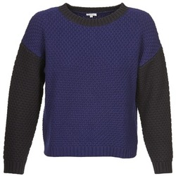 Kleidung Damen Pullover Manoush POINT DE RIZ Blau / Schwarz
