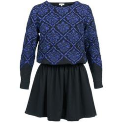 Kleidung Damen Kurze Kleider Manoush GIRANDOLINE Schwarz / Blau