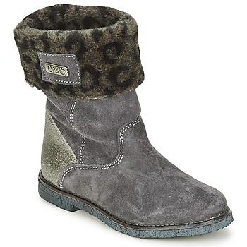 Schuhe Mädchen Boots Le Temps des Cerises JUNIOR EVA Grau