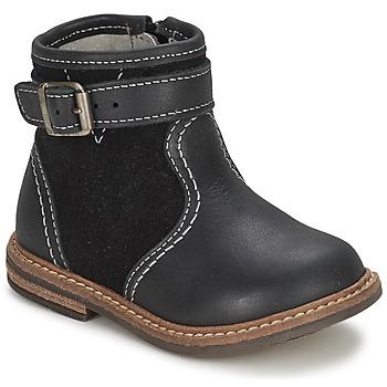 Schuhe Jungen Boots Citrouille et Compagnie LOOPI Schwarz