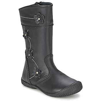 Schuhe Mädchen Klassische Stiefel Citrouille et Compagnie AMATIS Schwarz