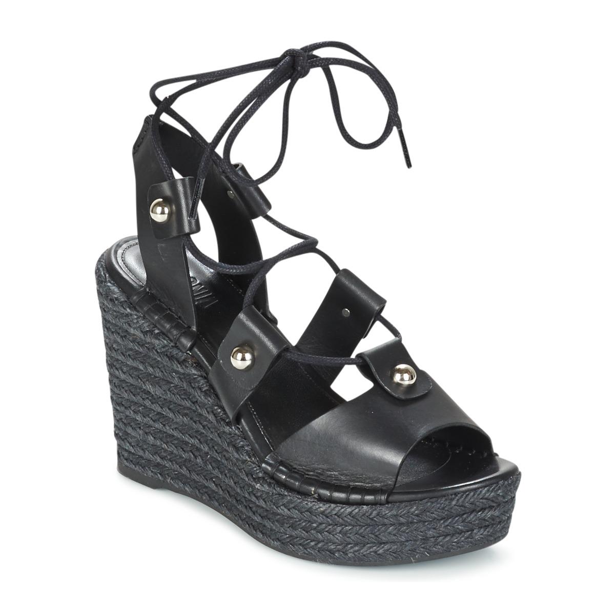 Sonia Rykiel 622908 Schwarz - Kostenloser Versand bei Spartoode ! - Schuhe Sandalen / Sandaletten Damen 144,50 €