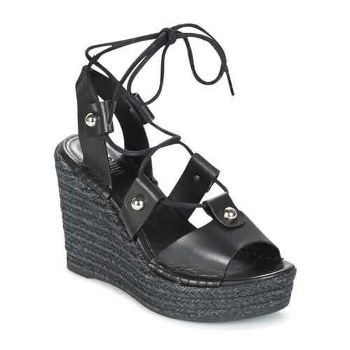 Sonia Rykiel 622908 Schwarz  Schuhe Sandalen / Sandaletten Damen 202,30