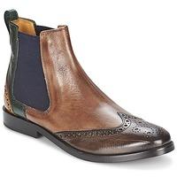 Schuhe Damen Boots Melvin & Hamilton AMÉLIE 5 Braun / Grün / Gelb