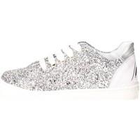 Schuhe Kinder Sneaker Low Blumarine D3556 Silber
