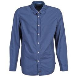 Kleidung Herren Langärmelige Hemden Marc O'Polo CELSUS Blau / Marine / Rot