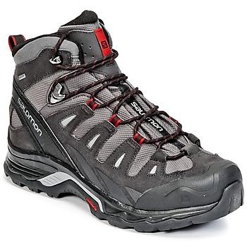 Schuhe Herren Wanderschuhe Salomon QUEST PRIME GTX® Grau / Schwarz / Rot