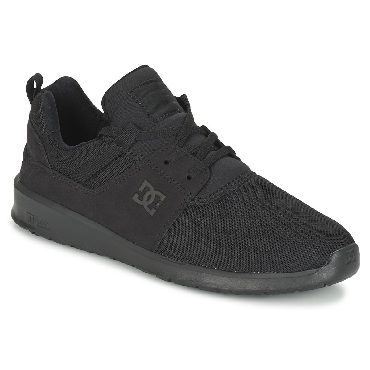 DC Shoes HEATHROW M SHOE 3BK Schwarz - Kostenloser Versand bei Spartoode ! - Schuhe Sneaker Low Herren 59,49 €