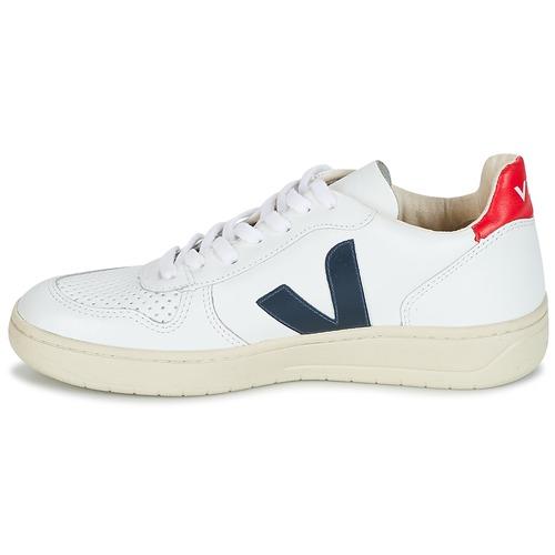 Veja V-10 Weiss / Blau / Rot  Schuhe Sneaker Low  125