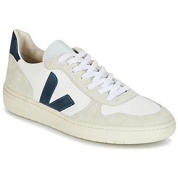 Schuhe Herren Sneaker Low Veja V-10 Weiss / Blau