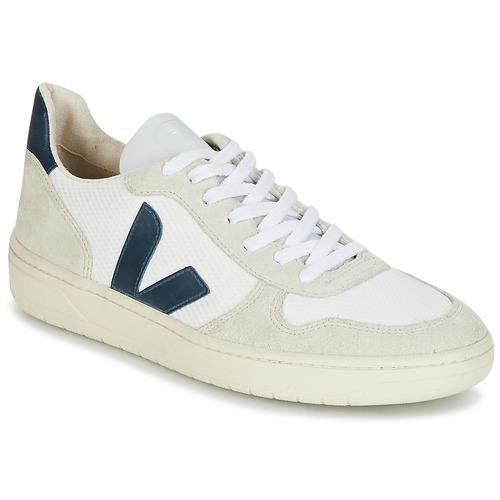 Veja V-10 Weiss / Blau  Schuhe Sneaker Low Herren 87,20