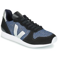 Schuhe Damen Sneaker Low Veja HOLIDAY LOW TOP Schwarz / Blau / Silbern