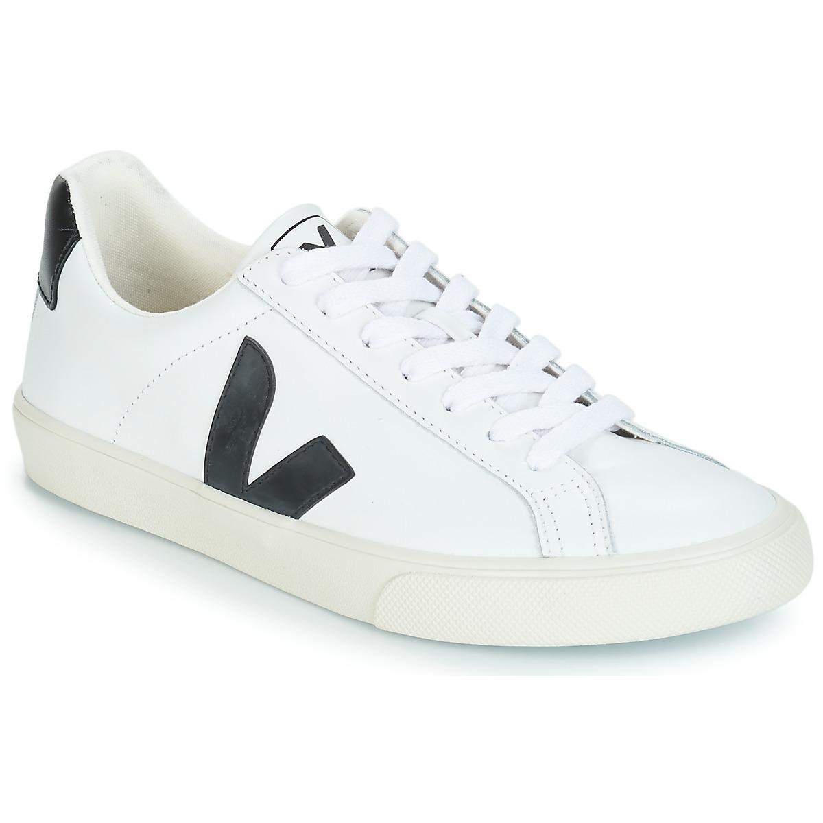Veja ESPLAR LOW LOGO Weiss / Schwarz - Kostenloser Versand bei Spartoode ! - Schuhe Sneaker Low  79,19 €