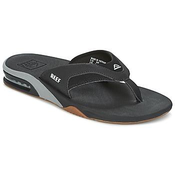 Schuhe Herren Zehensandalen Reef FANNING Schwarz / Grau