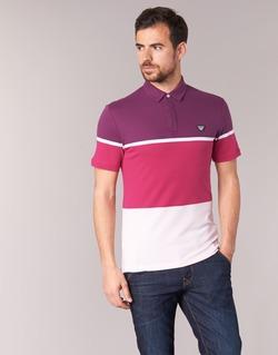 Kleidung Herren Polohemden Armani jeans MARAFOTA Violett / Rot / Weiss