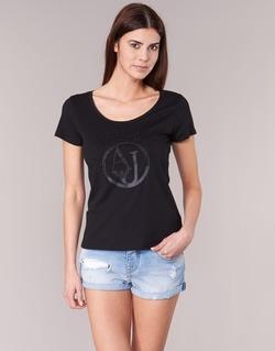 Kleidung Damen T-Shirts Armani jeans LASSERO Schwarz
