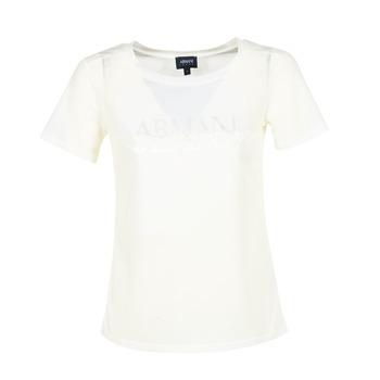 Kleidung Damen T-Shirts Armani jeans KAJOLA Weiss