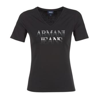 Kleidung Damen T-Shirts Armani jeans JAGONA Schwarz