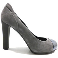 Schuhe Damen Pumps Hogan pumps grau wildleder lack AZ160 grau