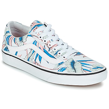 Schuhe Damen Sneaker Low Vans OLD SKOOL Weiss / Blau